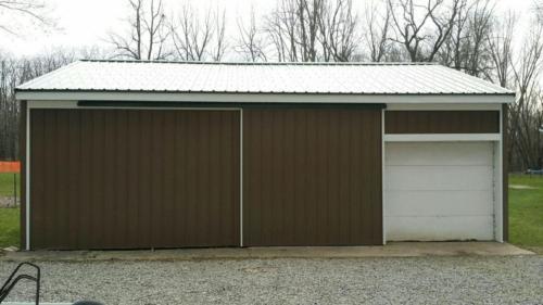 garage front after