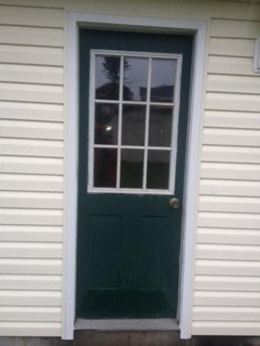 rear door garage